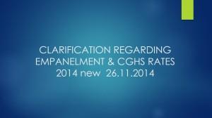 CLARIFICATION REGARDING EMPANELMENT & CGHS RATES 2014 new