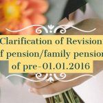 Clarification of Revision of pension_family pension of pre-01.01.2016