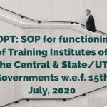 DOPT_ SOP for functioning of Training Institutes of the Central & State_UT Governments w.e.f. 15th July, 2020