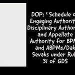 DOP_ 'Schedule of Engaging Authority' Disciplinary Authority