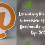 Extending the date for submission of bills by fax_emails upto 30th Sep, 2020