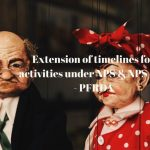Extension of timelines for activities under NPS & NPS Lite - PFRDA