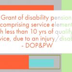 disability pension - dop&pw