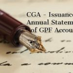 CGA - Issuance of Annual Statement of GPF Account