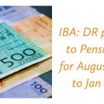 IBA_ DR payable to Pensioners for August 2020 to Jan 2021