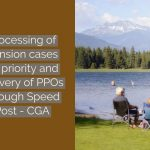 Processing of Pension cases on priority and delivery of PPOs through Speed Post - CGA