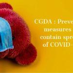 CGDA - Preventive measures to contain spread of COVID-19