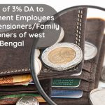 Grant of 3% DA to Government Employees & DR to Pensioners_Family Pensioners of west Bengal