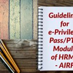 Guidelines for e-Privilege Pass_PTO Module of HRMS - AIRF
