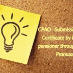 CPAO - Submission of Life Certificate by NPS-AR pensioner through Jeevan Pramaan