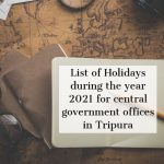 List of Holidays during the year 2021